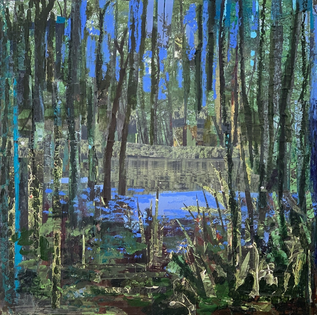 Williams_Vernal Pool 24 inches x 24 inches Encaustic with Oil (2)