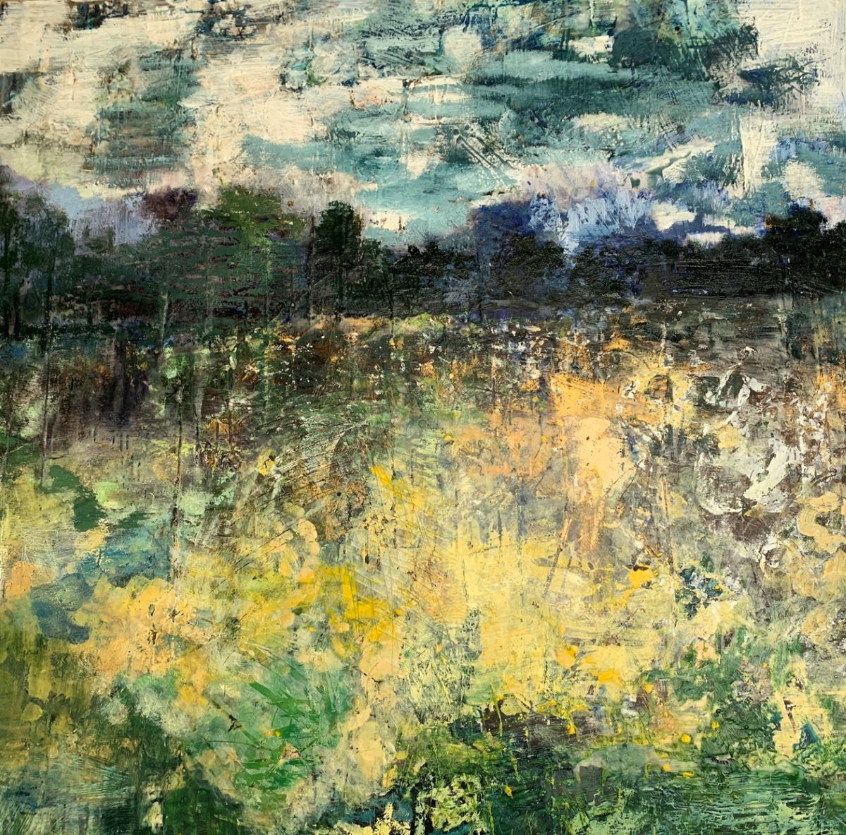 Williams_field of dreams 48 inches x 48 Inches Encaustic with Oil
